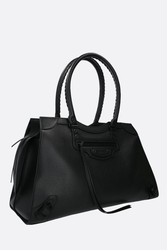 BALENCIAGA: Neo Classic City L grainy leather handbag Color Black_2