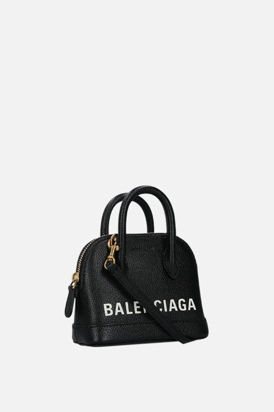 BALENCIAGA: Ville mini grainy leather handbag Color Black_2