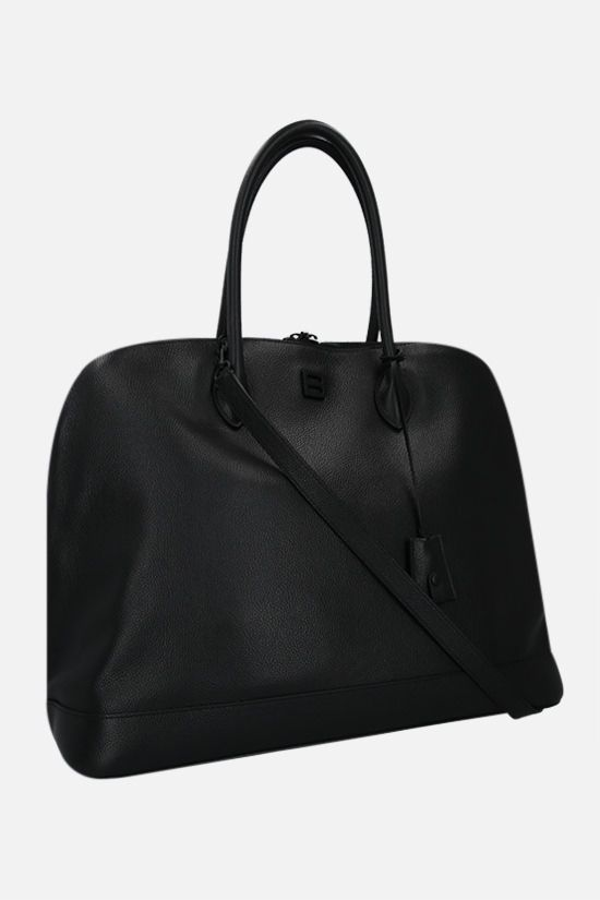 BALENCIAGA: Ville large grainy leather handbag Color Black_2