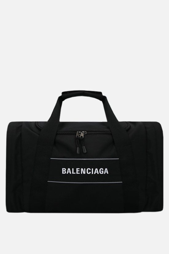 BALENCIAGA: Sport N-S recycled nylon gym bag Color Black_1