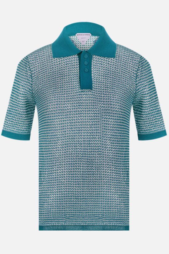 BOTTEGA VENETA: compact cotton mesh polo shirt Color Multicolor_1
