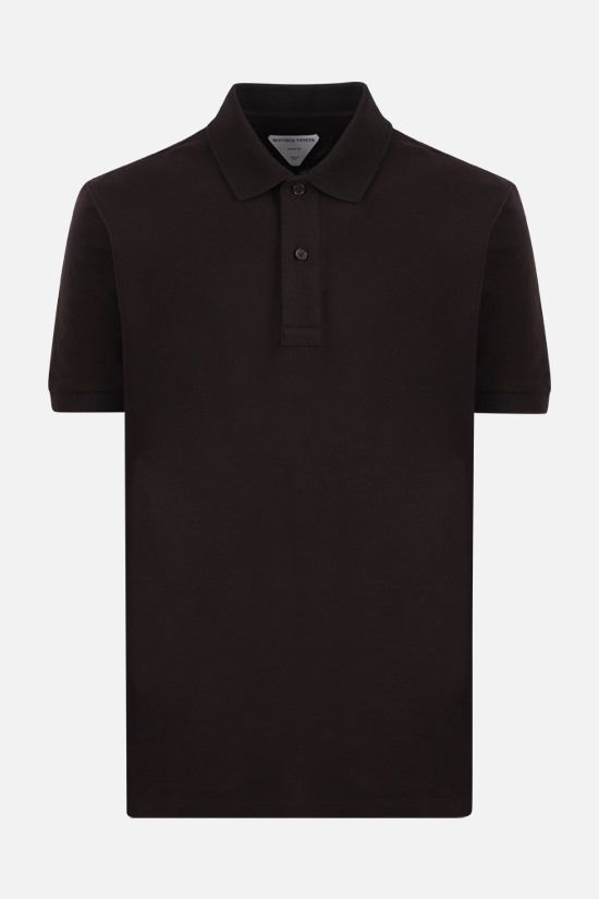 BOTTEGA VENETA: cotton piquet polo shirt Color Brown_1