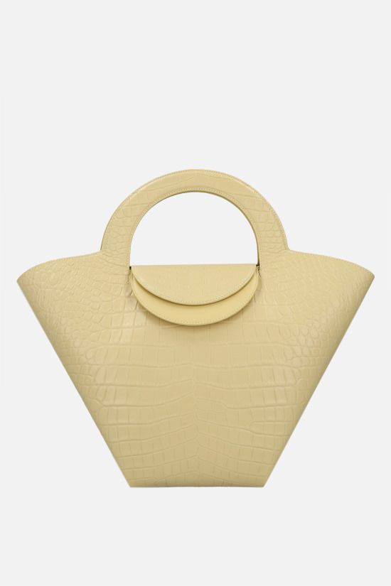 BOTTEGA VENETA: Doll large croc-embossed leather tote bag Color Neutral_1