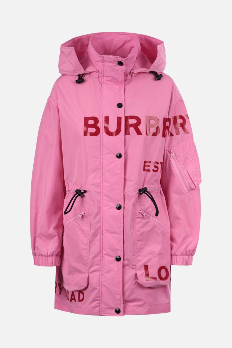 BURBERRY: Dartmouth nylon taffetà parka Color Pink_1