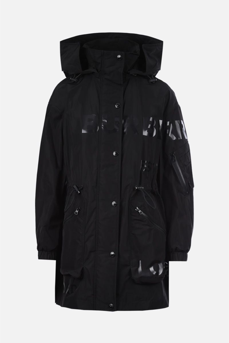BURBERRY: Dartmouth nylon taffetà parka Color Black_1