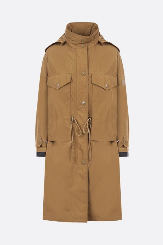 BURBERRY: Colney taffeta parka Color Brown_1