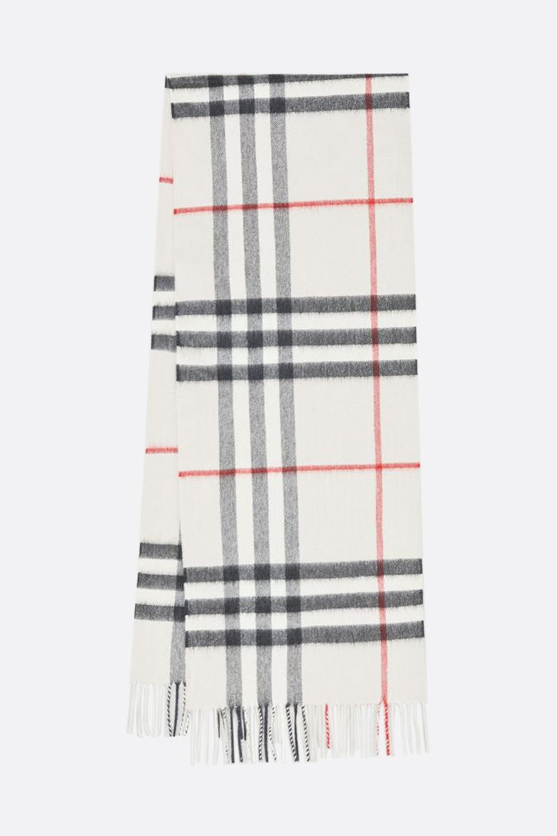 BURBERRY: Giant check-motif cashmere scarf Color Grey_2