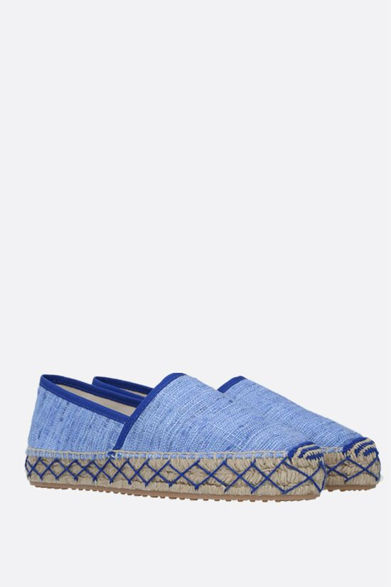 CAR SHOE: espadrilla in seta grezza Colore Blu_2