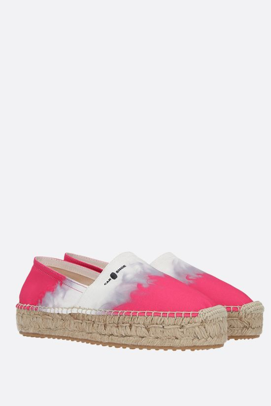 CAR SHOE: printed canvas espadrilles Color White_2