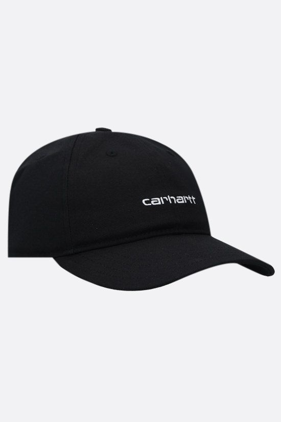 CARHARTT WIP: Script canvas baseball cap Color Black_2