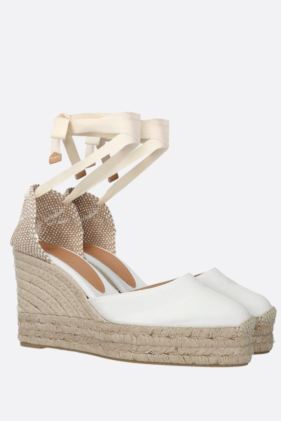 CASTANER: Carina canvas and jute wedge espadrilles Color White_2