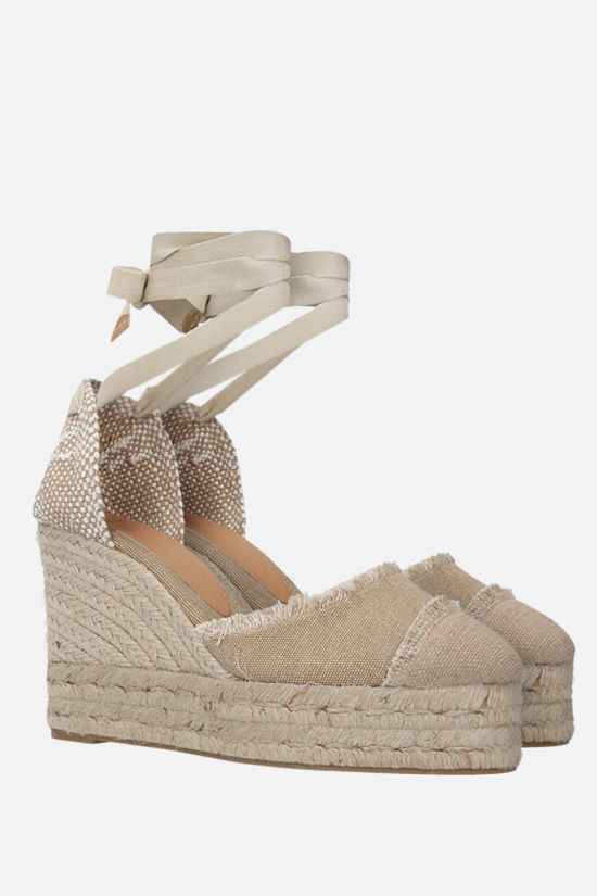 CASTANER: Catalina canvas and jute wedge sandals Color Neutral_2