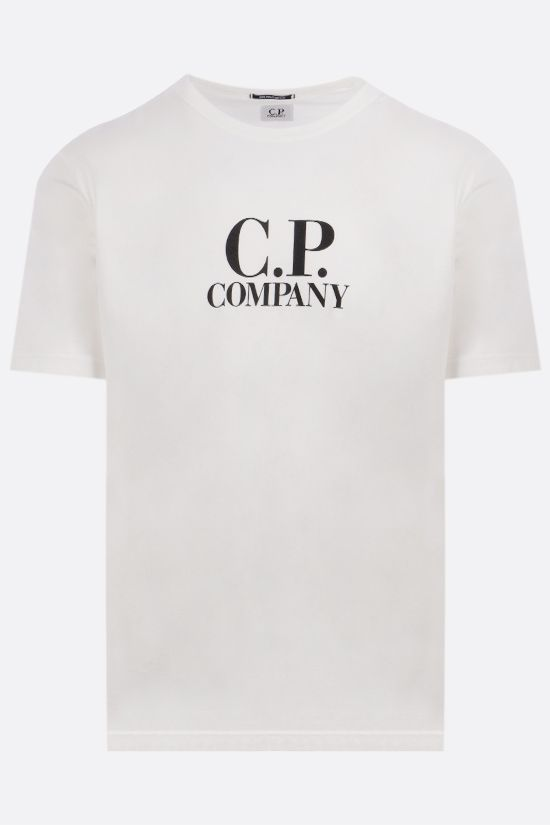 CP COMPANY: logo print cotton t-shirt Color White_1