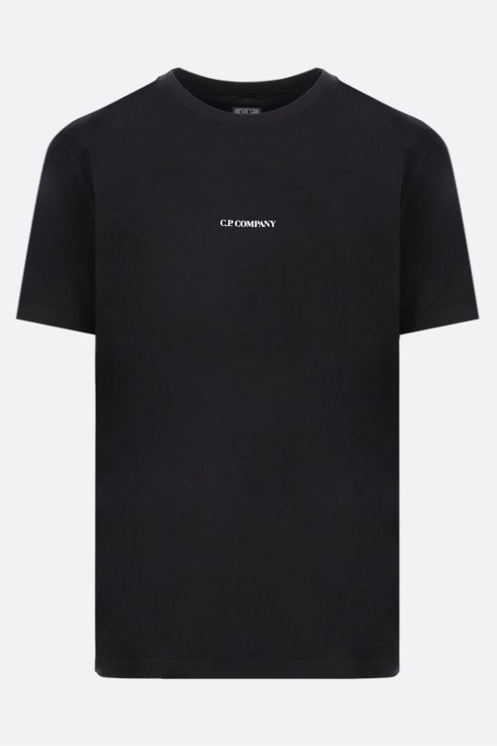 CP COMPANY: logo print cotton t-shirt Color Black_1