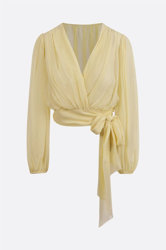 DOLCE & GABBANA: silk georgette blouse Color Yellow_1
