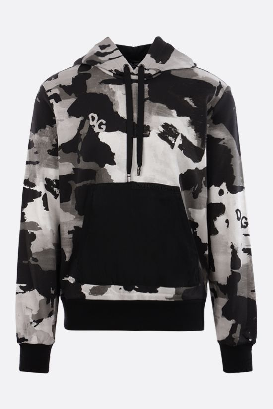 DOLCE & GABBANA: camouflage print cotton hoodie Color Multicolor_1