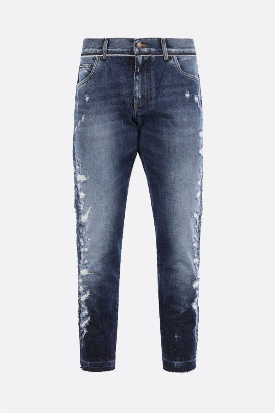 DOLCE & GABBANA: distressed-effect regular-fit jeans Color Multicolor_1