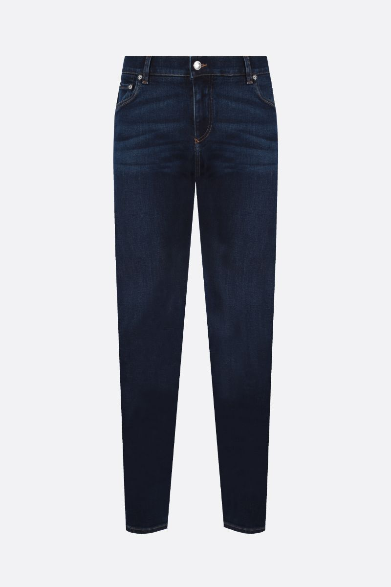 DOLCE & GABBANA: DG logo-detailed skinny jeans Color Blue_1