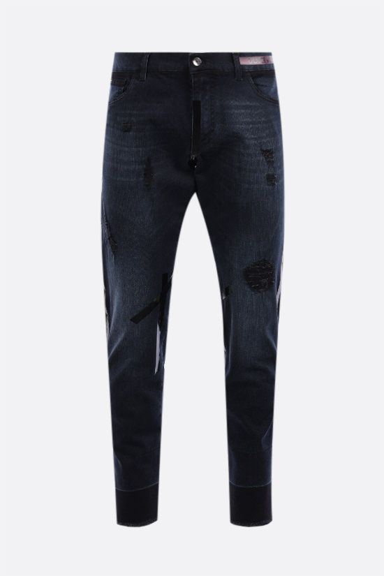 DOLCE & GABBANA: distressed-effect slim-fit jeans Color Multicolor_1
