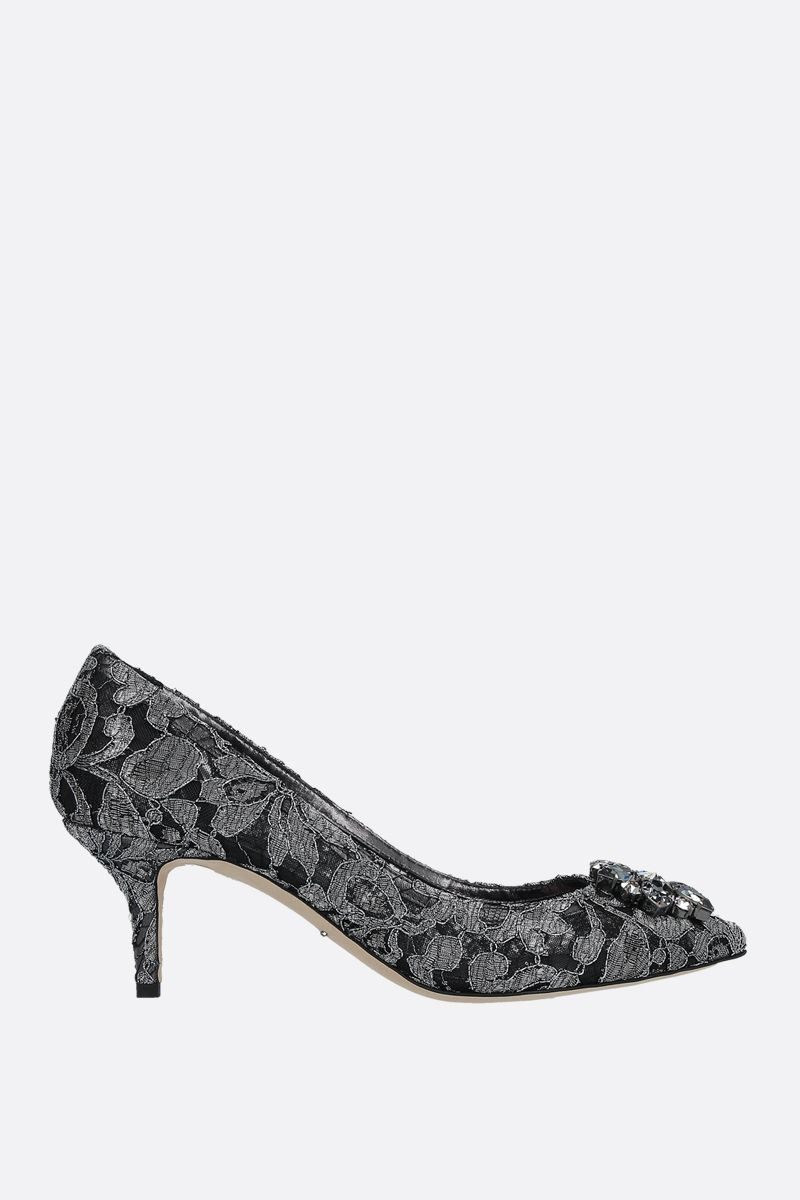 DOLCE & GABBANA: Bwllucci pumps in Taormina lace Color Grey_1