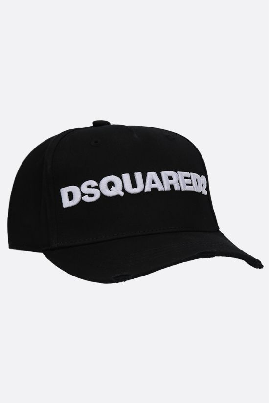 DSQUARED2: Dsquared2 cotton baseball cap Color Black_2