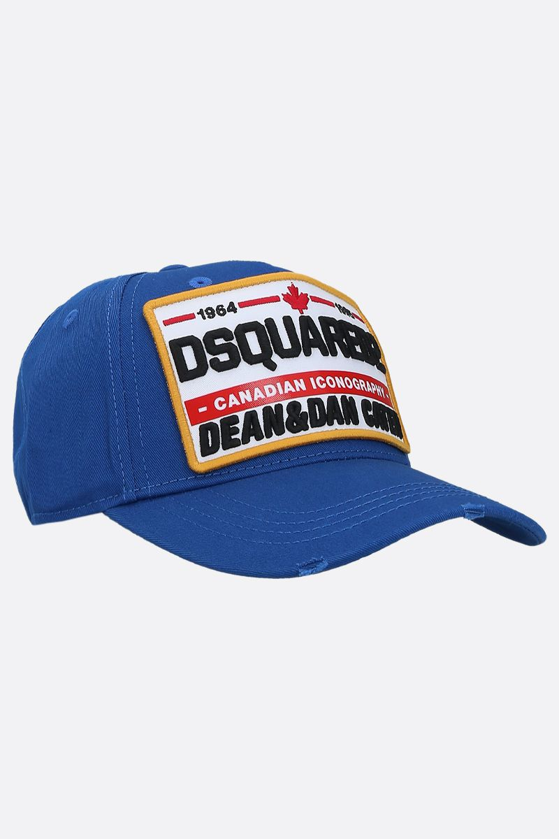 DSQUARED2: Dsquared2 patch canvas baseball cap Color Blue_2
