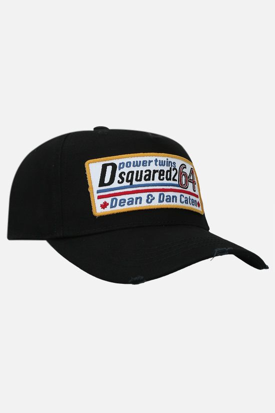 DSQUARED2: Dsquared2 64 patch cotton baseball cap Color Black_2