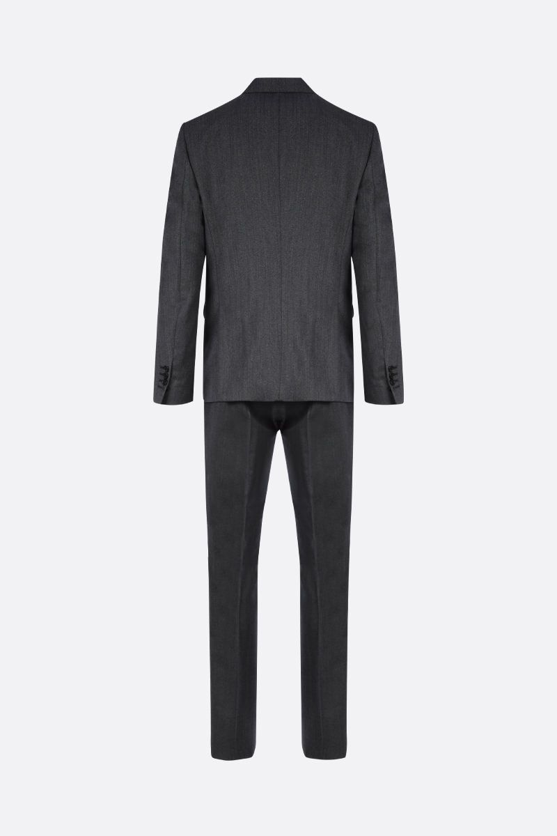 DSQUARED2: herringbone wool two-pieces suit Color Grey_2
