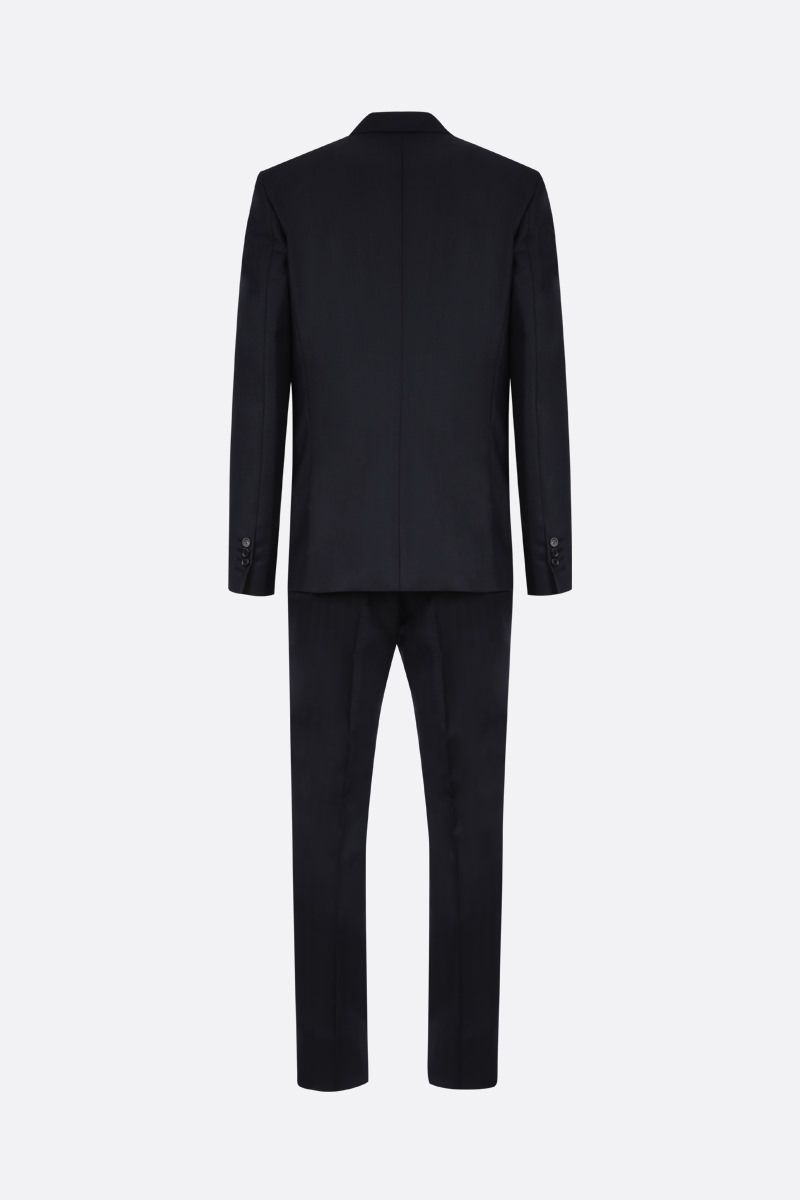 DSQUARED2: herringbone wool two-pieces suit Color Blue_2