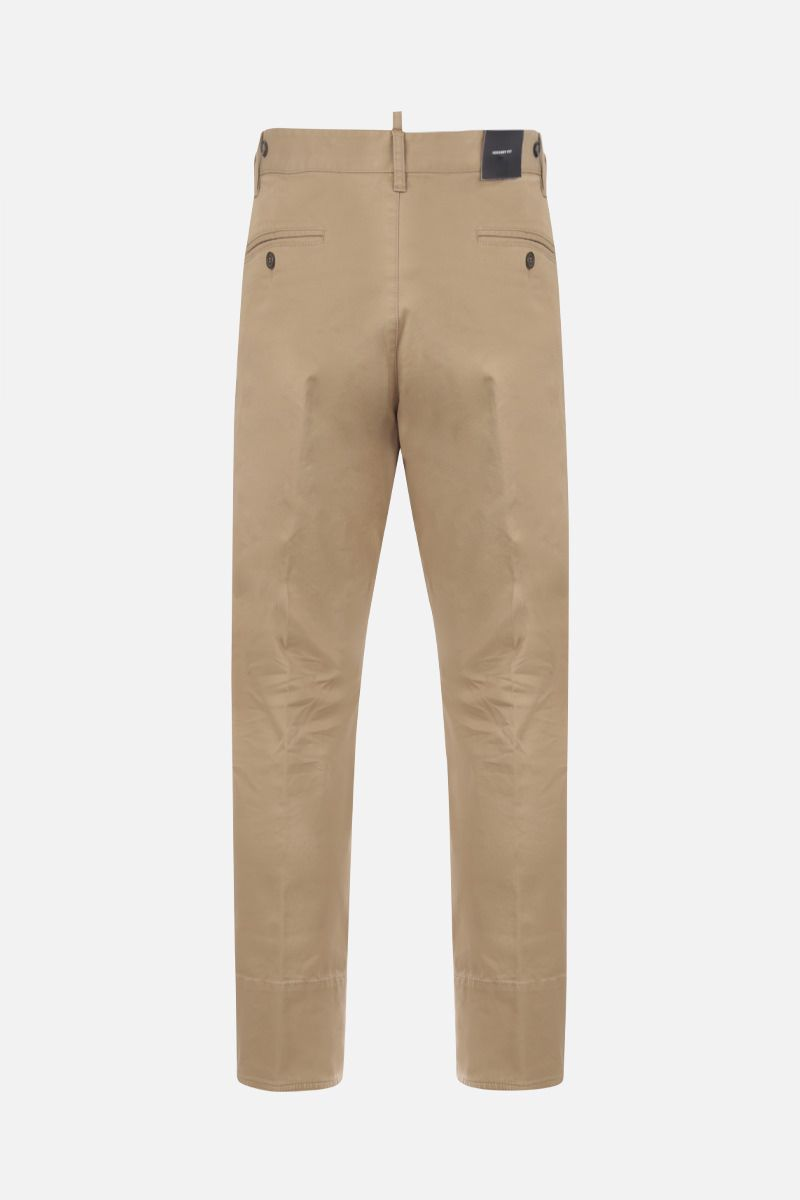 DSQUARED2: pantalone Hockney in cotone stretch Colore Neutro_2