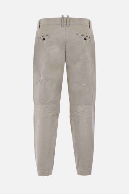 DSQUARED2: DSQ2 patch cotton chino pants Color Grey_2