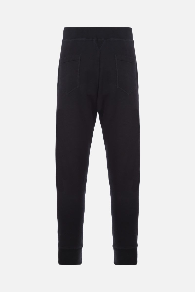 DSQUARED2: pantalone jogging Dsquared2 Icon in cotone Colore Nero_2