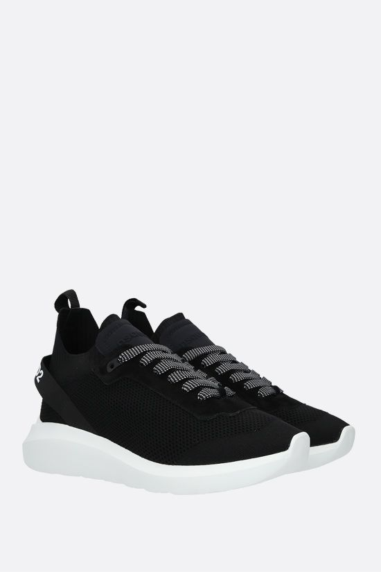 DSQUARED2: Speedster sneakers in stretch knit and neoprene Color Black_2
