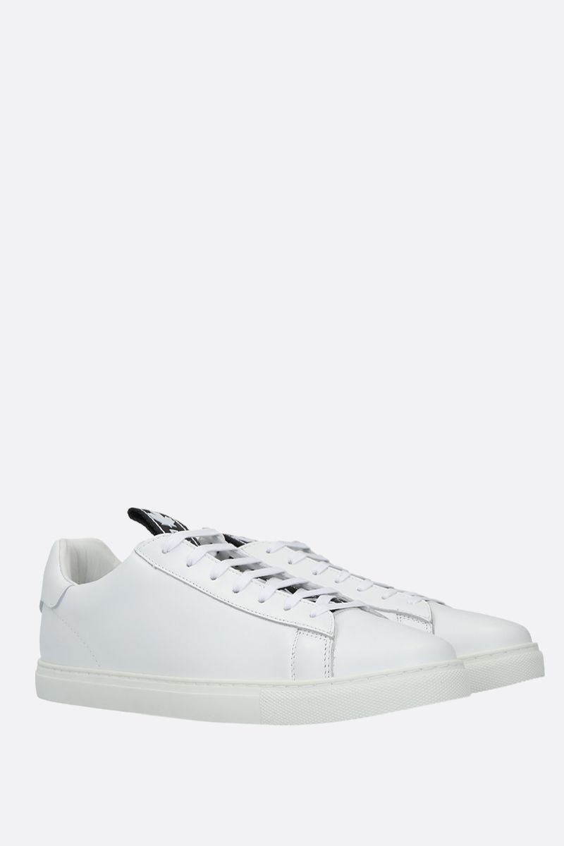 DSQUARED2: Evolution Tape smooth leather sneakers Color White_2