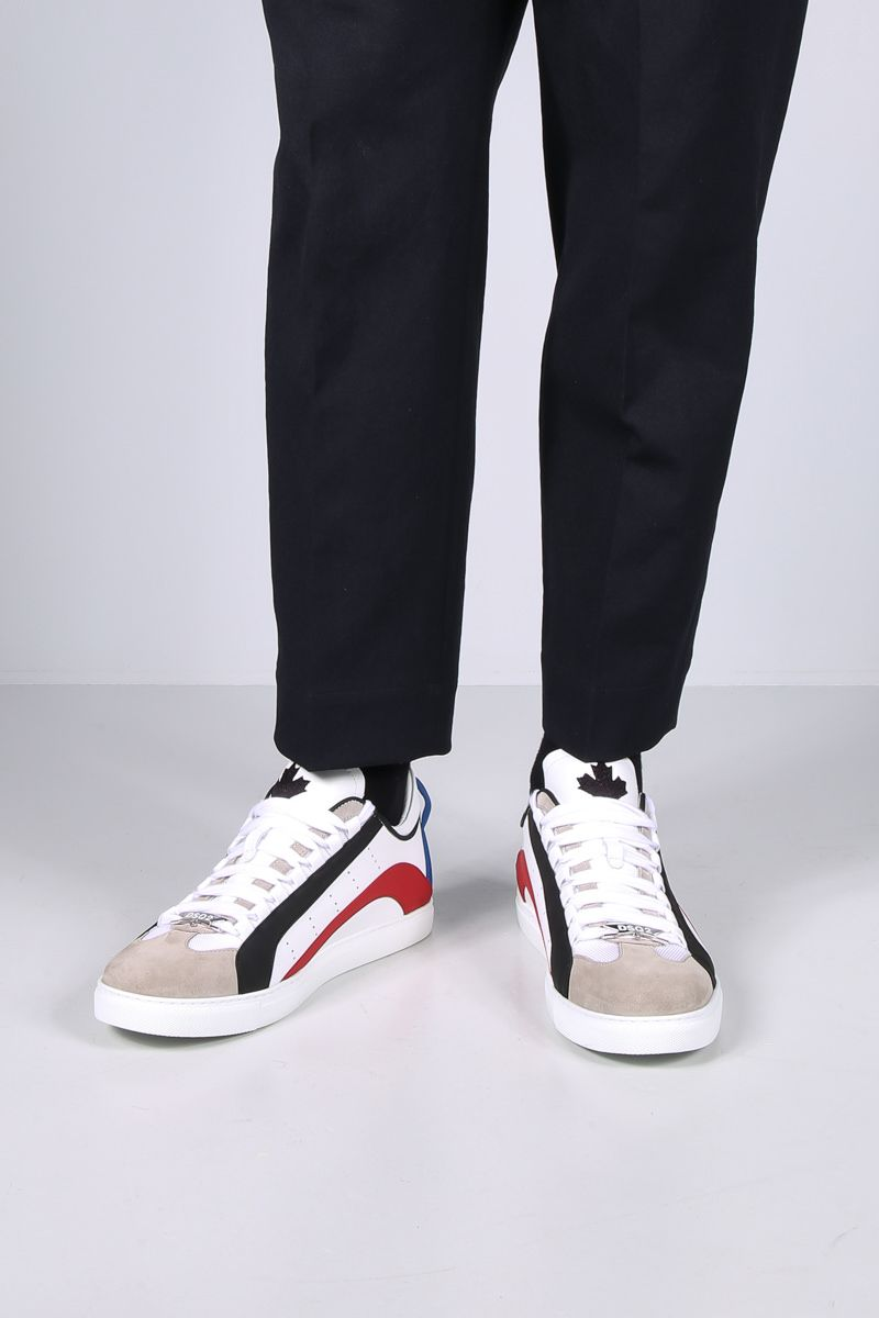 DSQUARED2: 551 smooth leather sneakers Color White_2