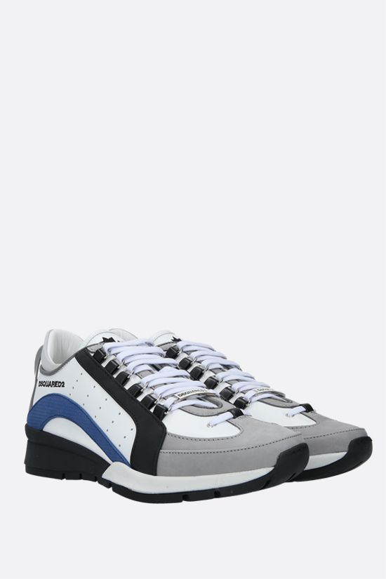 DSQUARED2: 551 smooth leather and nabuk sneakers Color White_2