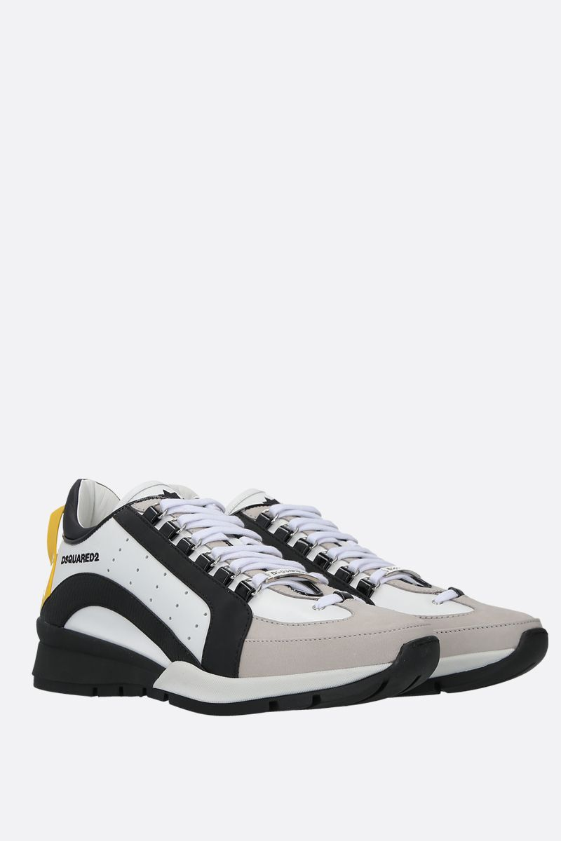 DSQUARED2: 551 smooth leather and nabuk sneakers_2