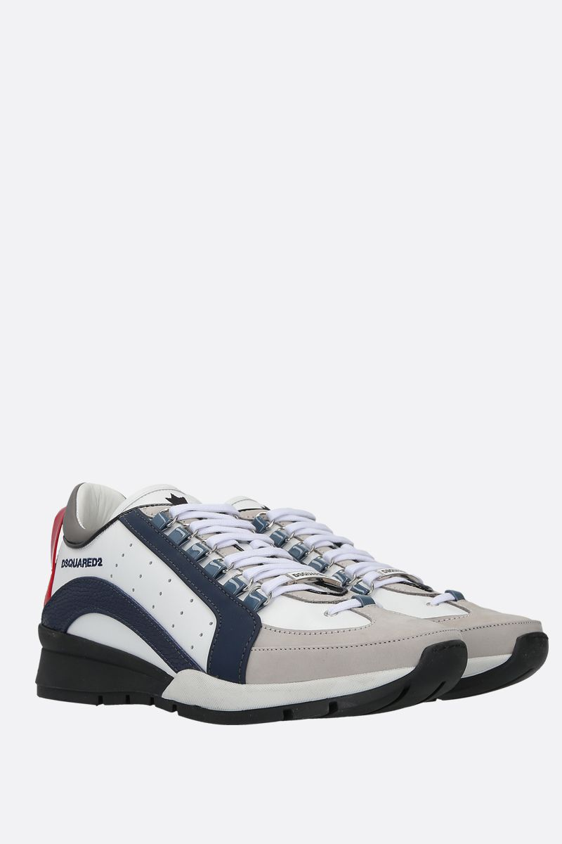 DSQUARED2: 551 smooth leather and nabuk sneakers Color Multicolor_2