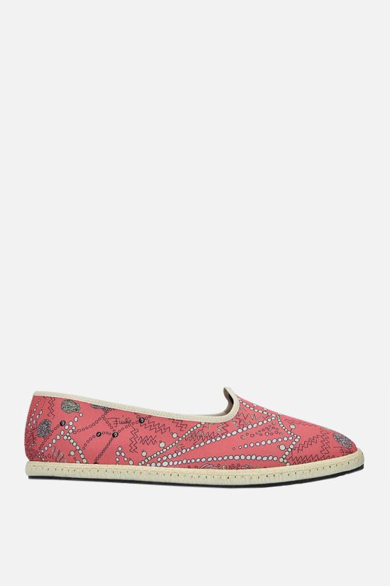EMILIO PUCCI: seashell print twill ballerinas Color Red_1