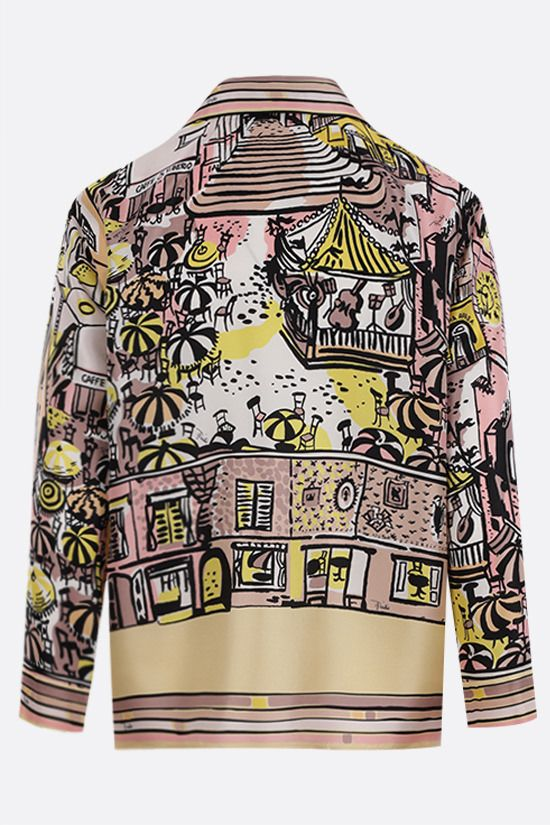 EMILIO PUCCI: Piazzetta di Capri print silk shirt Color Yellow_2