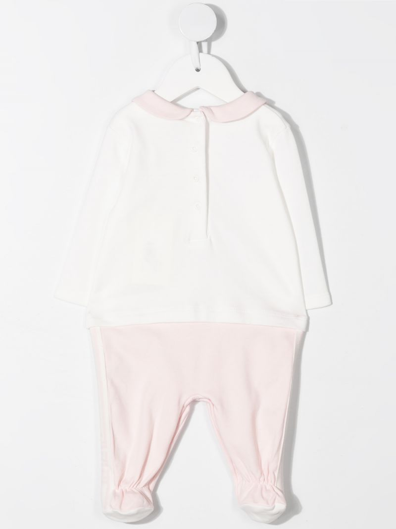 FENDI KIDS: FF-detailed cotton babygrow, beanie and bib Color Pink_2