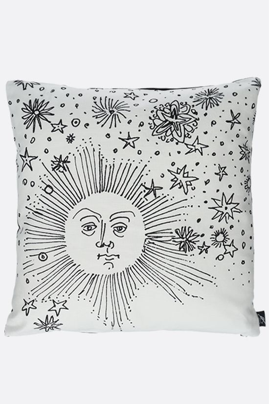 FORNASETTI: Solamente canvas cushion Color Grey_1