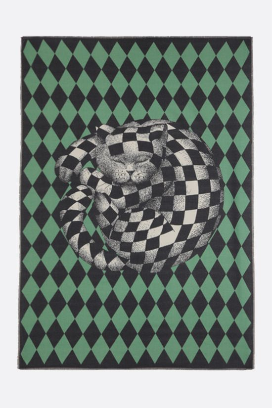 FORNASETTI: plaid High Fidelity in lana Colore Multicolore_2