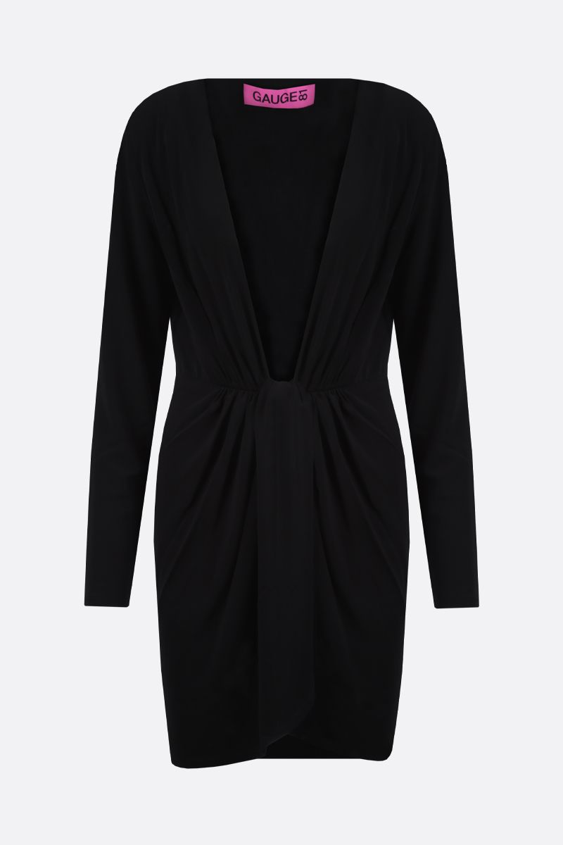 GAUGE81: Krasnodar jersey wrap dress Color Black_1