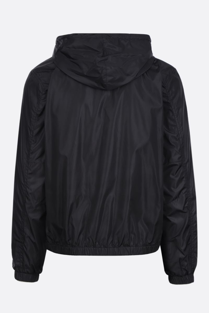 GIVENCHY: logo print nylon windbreaker Color Black_2