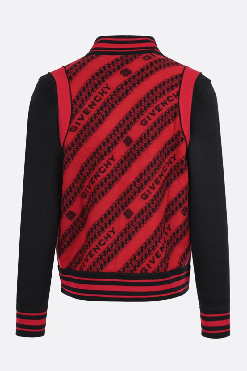 GIVENCHY: GIVENCHY Chaine wool jacquard bomber jacket Color Multicolor_2