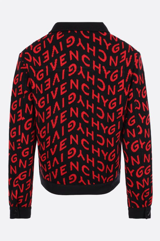 GIVENCHY: Givenchy Refracted motif wool overshirt Color Black_2