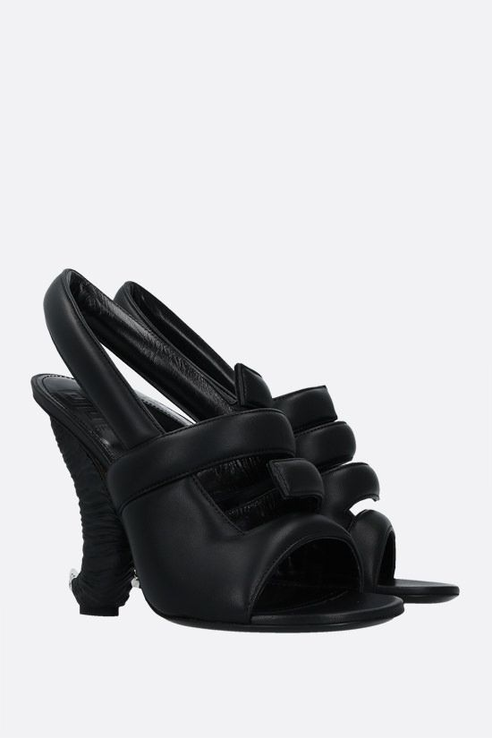 GIVENCHY: horn heel soft nappa sandals Color Black_2