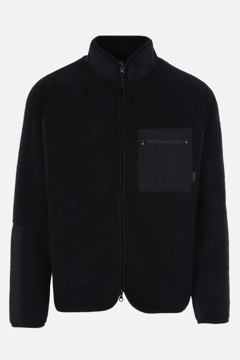 GRAMICCI: full-zip fleece and nylon jacket Color Black_1