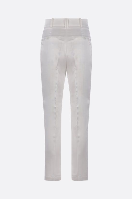 HEBE STUDIO: LouLou stretch satin pants Color White_2